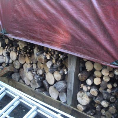 Chunky woodpile