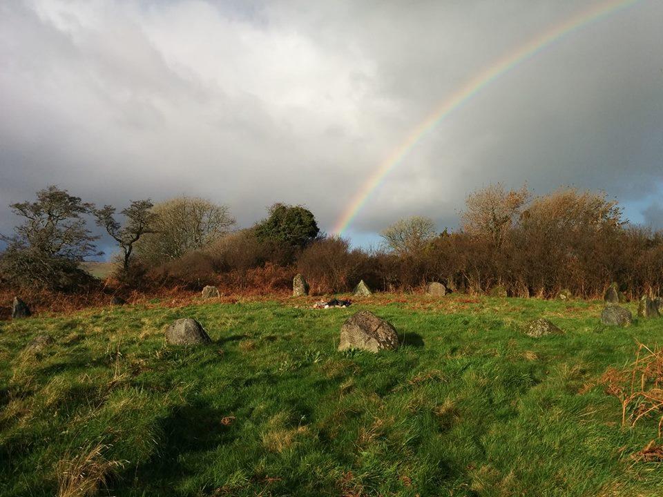 Stone circle with rainbow (1)